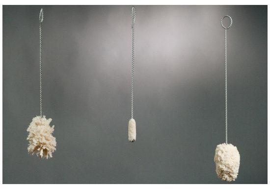 Scovoli in cotone per vetrerie